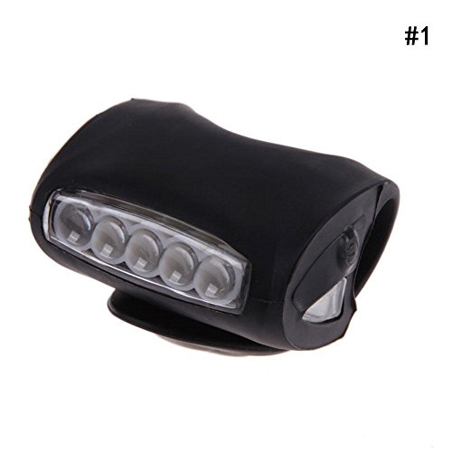 CloudWhisper Fahrrad-LED blinkende LED Vorder- und Rücklicht mit Silikon-(keine Batterie), Schwarz (Lichter Blinkende Fahrrad)