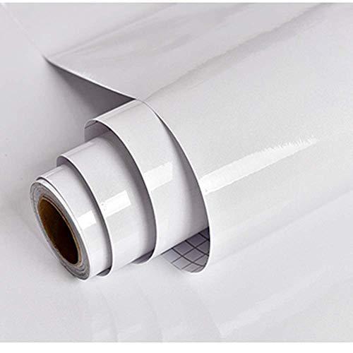 Carta da parati adesiva bianco perlato carta adesiva per mobili pellicola impermeabile vinile adesivi da cucina in pvc bagno durevole scaffale mobili da banco tavolo da muro peel stick 30cm x 3m diy