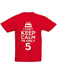 I Can't I'm Only 5 - 5th Birthday Gift T-Shirt For 5 Year Old Boys And Girls by LOLTOPS