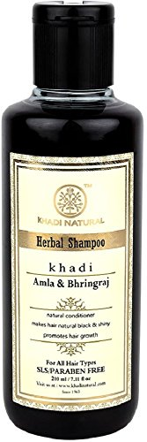 Khadi Herbal Amla and Bhringraj Shampoo SLS & Paraben Free , 210ml (for Hair Growth)
