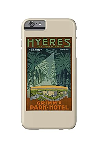 Hyeres - Grimm's Park - Hotel Vintage Poster Switzerland c. 1910 (iPhone 6 Plus Cell Phone Case, Slim Barely There)