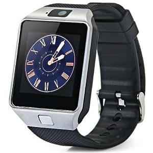 Montre téléphone connectée débloqué Bluetooth 3.0 Smartwatch Sport avec support carte Sim - Appareil photo vidéo espion - Port micro sd- Compatible ...