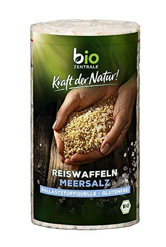 biozentrale Reiswaffeln Meersalz, 12er Pack (12 x 100 g)