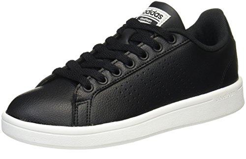 adidas CF Advantage Cl W, Scarpe da Ginnastica Basse Donna, Nero Core Black/Silver Metallic, 36 2/3 EU