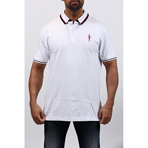 polo-homme-cesare-paciotti-manches-courtes-blanc
