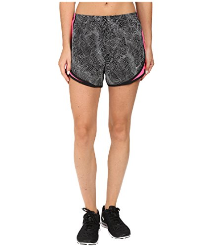 Shorts Nike Tempo Print (NIKE Women's Dry Tempo Print Running Short (Black/Hyper Pink/Black/Wolf Grey, Small))