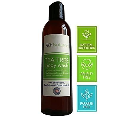 Anti-Pilz-Duschgel mit Teebaumöl - 100% Natürliches Körperpflegeprodukt - anti-bakteriell - Gibt Linderung auch bei Akne, Geruch, Würmern, Nagelpilz sowie trockener und kratzender Haut