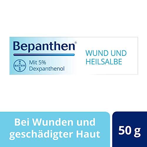 Bepanthen Wund- und Heilsalbe, unterstützt die Heilung bei kleinen, oberflächlichen Wunden und schuppig-rissigen Hautstellen, 50 g, 1 Stück