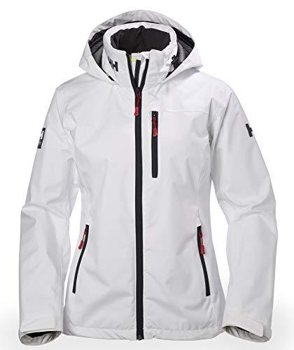 Helly hansen w crew hooded midlayer jacket, giacca donna, bianco, m