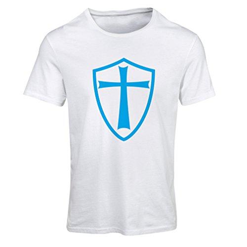 T-shirt femme Chevaliers Templiers - Chevalier des Templiers Blanc Bleu