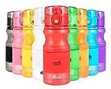Hook Borraccia Sportiva Bottiglia Acqua - 420ml/750ml - Bottiglia plastica, a Prova di perdite, Riutilizzabile BPA Free Detox Bottiglie Acqua per Bambini, Palestra, MTB, Ufficio, Bici,Viaggio Frutta