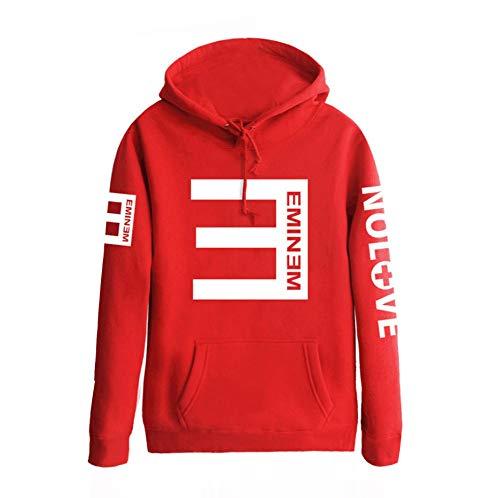 (Qian Qian Unisex Hip Hop Sweater Hoodie Kapuzenpullover Cosplay Kostüm Outfit US Size (XL, Rot))