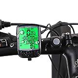 Mansso Fahrradcomputer Kabellos Fahrradtacho Drahtlos Wasserdicht Radcomputer Kabellos Tachometer LCD-Hintergrundbeleuchtung Kilometerzähler für Radsport