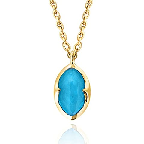 Missoma 18ct Gold Plated Bisous Turquoise Doublet Pendant