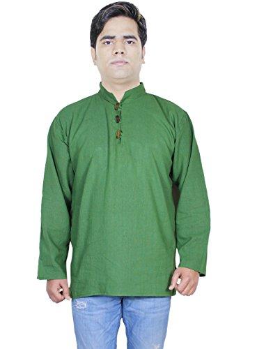 100-khadi-de-coton-mens-chemise-en-coton-courte-kurta-robe-de-mode-de-vtements-indiens