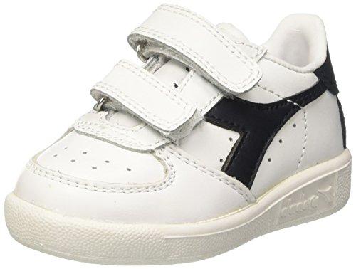 Diadora B Elite I, Sneaker Bas du Cou Mixte Enfant, White Blue, EU Blanc Cassé (Bianco/blu Profondo)