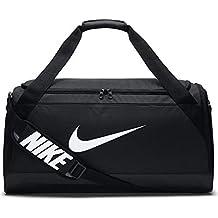 5383918548 Nike Brsla M Duff, Borsa da Viaggio Uomo, Nero/Bianco, Taglia Unica