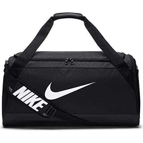Nike UnisexSporttasche Brasilia Duff  Klassische Sporttaschen, Schwarz (Black/White), Einheitsgröße