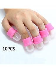 Rheane 10PCS Remover Capuchon à Ongles Outil pour Enlever Soak Off Gel UV Faux Ongles Polonais Acrylique DIY Nail Art Manucure