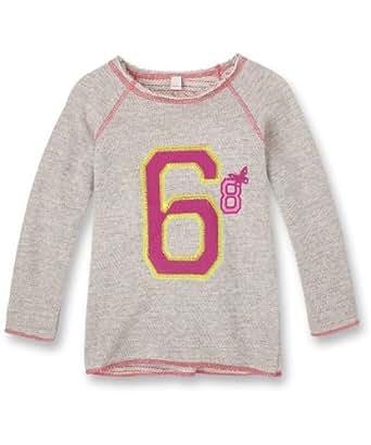 Esprit 024EE7J001 - Sweat-shirt - Fille - Gris (Gris Chiné) - FR: 3 ans (Taille fabricant: 92/98)