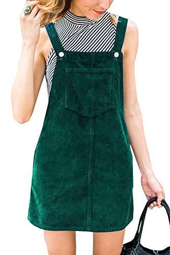 Ybenlover Damen Latzkleid Herbst Kleider Trägerkleid A Linie Minikleid Overall