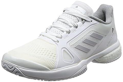 adidas Women's by Stella Mccartney Barricade Boost 2017 Tennis Shoes, Grey (Footwear White/Light Grey Heathersolid Grey/Night Steel), 7.5 UK