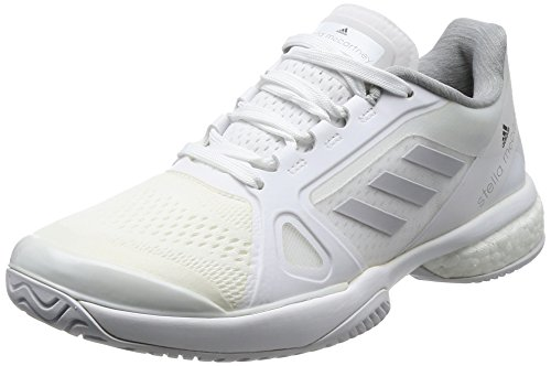 adidas Damen By Stella Mccartney Barricade Boost 2017 Tennisschuhe, Grau (Footwear White/Light Grey Heathersolid Grey/Night Steel), 40 2/3 EU