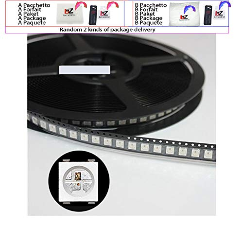 Sourcingmap WS2812B LED-Chip-Emitter, 4 Pins, 5050 SMD, mit integriertem WS2811 IC, individuell adressierbar, 100 Stück weiß