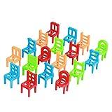 Egosy Divertido Juego Familiar El Juego de Habilidad para niños y Adultos Juego de apilamiento con sillas y escaleras Juego de Habilidad