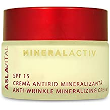 ASLAVITAL MINERALACTIV, Anti-Wrinkle Mineralizing Cream SPF 15 (Original Formula, With Organic Goji Berry Extract and 100% Natural Clay)