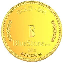 BlueStone BIS Hallmarked 50 grams 24k (995) Yellow Gold Precious Coin