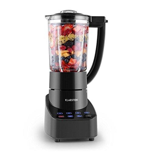Klarstein Touch & Go Standmixer Küchenmixer (700 Watt, 1,5 Liter-Glaskrug, Touchsteuerung, 3 Geschwindigkeitsstufen, Icecrusher, Frozen Drink) schwarz