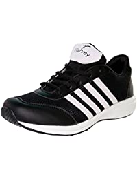 Sport Shoes - Men's Running Shoes Multi Sport Athletic Jogging Fitness Black With White Strips
