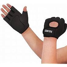 Dehang - Guantes deportivos antideslizantes de entrenamiento gimnasio fitness ciclismo - Negro - M