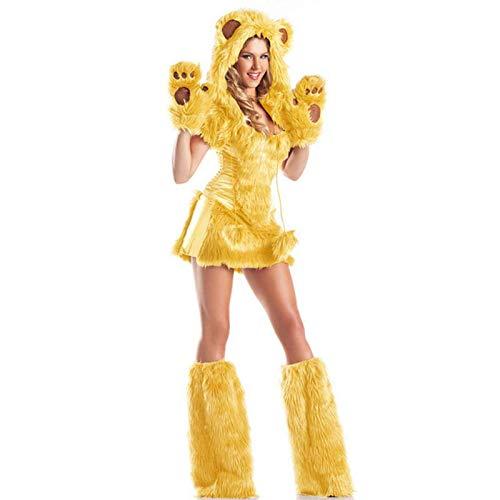 NCTM Kostüm für Frauen Animal Style Cosplay Cute Funny Bear Party Leistung Polyester Spandex