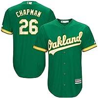 YQSB Oakland Athletics Team # 26 Chapman bordó el Jersey de béisbol,Green,Men-L