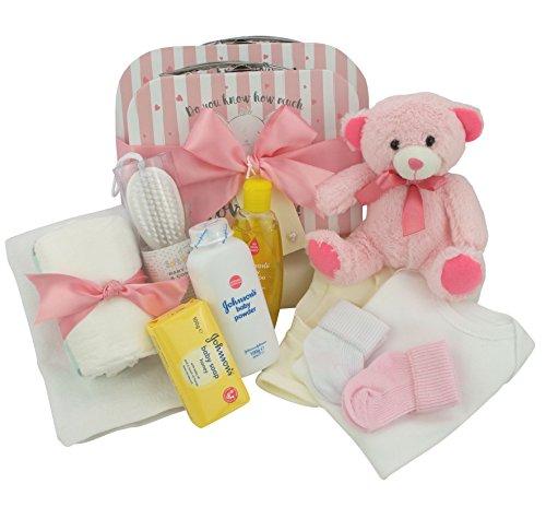 Neugeborenes Baby Geschenk Box (2 Geschenkboxen, Rosa) (Tröster Tragen Set)
