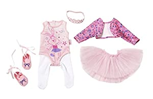 Zapf Baby Born Boutique Deluxe Ballerina Set Juego de ropita para muñeca - Accesorios para muñecas (Juego de ropita para muñeca, 3 año(s), Azul, Rosa, Blanco, Niño, Chica, 43 cm)