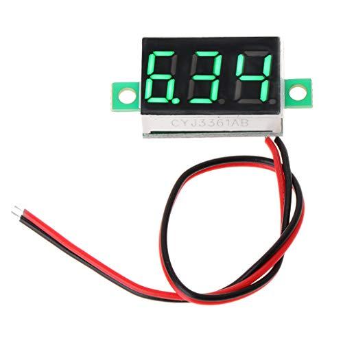 Besttse Digitales Voltmeter DC 2,50 V - 32,0 V LED Voltmeter Spannungsmessgerät 2-adrig 0,91,4 cm