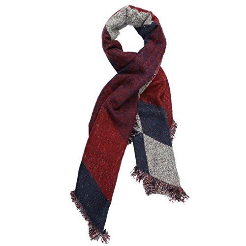xjpp Poncho Pashmina con spessore stile patchwork, Mantella scialle da donna grandi dimensioni 250* 70cm