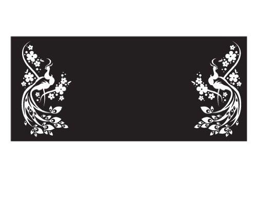 Apalis Rollo Nr. 43Magic Pfau I Selbstklebende Sichtschutzfolie 5Farben Fenster Film Folie Glas Décor Blickdicht Badezimmer Glas Film Farbe: erfrischendes Minz, Maße: 80cm x 180cm
