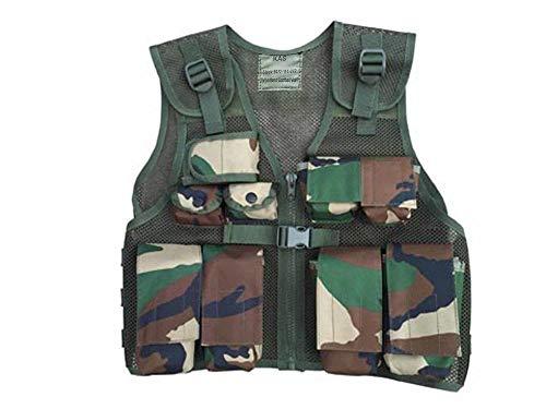 (Jungen Tarnweste Kinder Herren Outdoor Jacke Militärweste Armee Weste Kinderkostüm Soldat Rollenspiel Bundeswehr Verkleidung Ranger Camouflage in top Qualität)