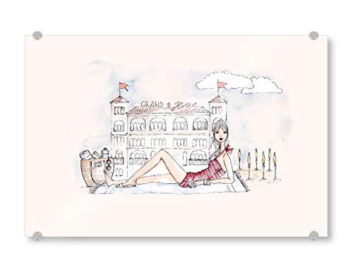 artboxONE Acrylglasbild 30x20 cm Fashion Ich und das Grand Hotel - Bild Fashionista fashionillustration