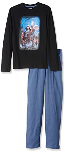 Star Wars Jungen Zweiteiliger Schlafanzug Dark Vader Schwarz, 4 Jahr
