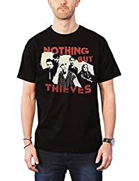 Fall Out Boy Nothing But Thieves T Shirt Broken Machine Band Shot Official Mens Black