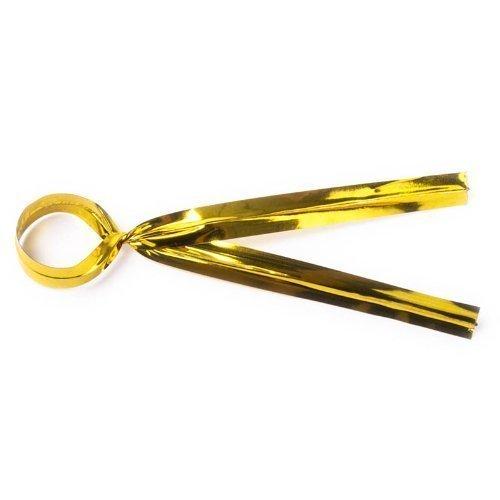 Krawatten-tasche Gold (x100 Twist Krawatten Tasche Verbindungselemente- Gold - 10cm von Loypack)