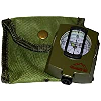 The Adventure Warehouse Waterproof Military Navigation Compass For Expedition Hiking and Map Reading, Orienteering and Survival Mountaineering- With Pouch and Instructional Guide Ltd