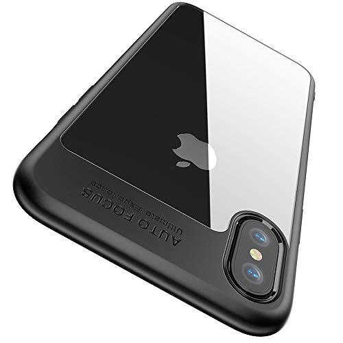 "Funda iPhone XS, Funda iPhone X, Joyguard Funda para iPhone XS Carcasa iPhone XS Híbrido Rígido Plástico Espalda + Suave TPU Marco [Protector] [Ligero] [Anti-Rasguños] Case iPhone XS - 5.8"" - Negro"