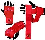 Islero Boxen Innen Gel-Handschuhe, Handwraps Boxsack MMA Grappling Martial Arts Verbände