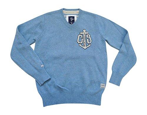 G-Star Raw Charles V Maglia L/S-Maglione di lana 86053.2340.3307Maglione fresh orbit HTR oxford knit Large